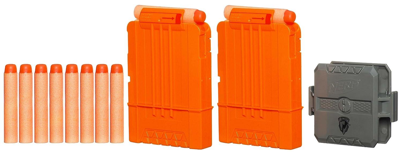 Nerf n-strike 18 max lot of 3 round dart ammo gun clips magazine  replacements