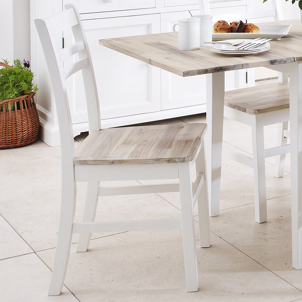 Florence white extending table and 6 chairs, White kitchen table ...