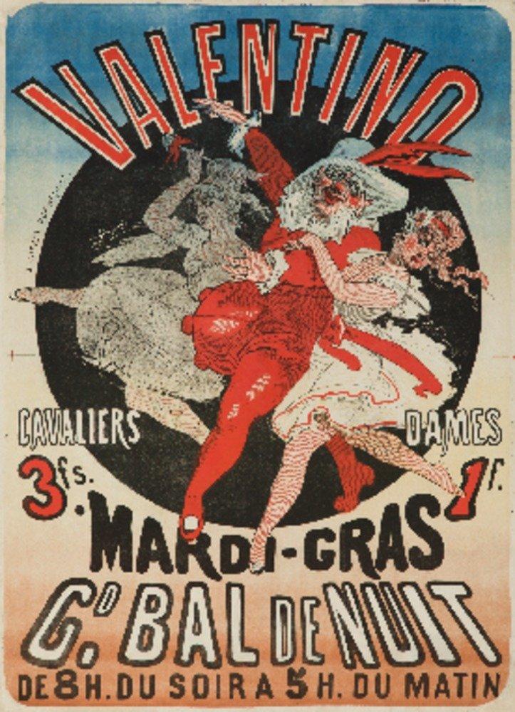 Valentino – Mardi – Grasヴィンテージポスター(アーティスト: Cheret )フランスC。1872 36 x 54 Giclee Print LANT-63490-36x54 36 x 54 Giclee Print  B01MPVWAI2