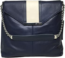 B. Makowsky Color Block Flap Hobo Navy Stargazer Stone BM42310 b4fa395bed
