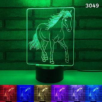 YDGJX 3D Led Luz De Noche Ilusión Óptica Lámpara De Mesa Luz ...