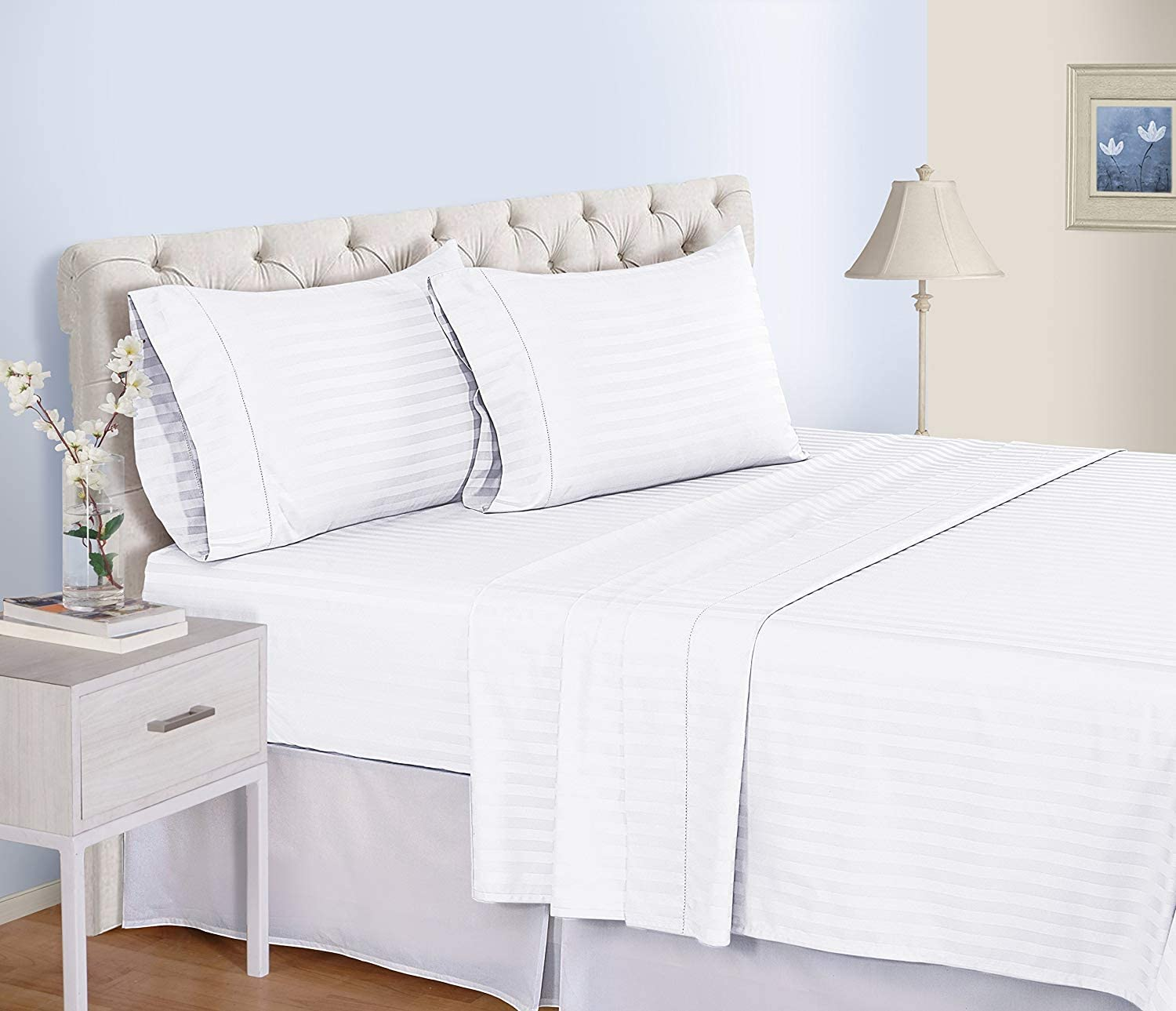 Luxury Percale Cot Bed Fitted Sheets Available in 21 Colours Two Mint Green Pack of 2