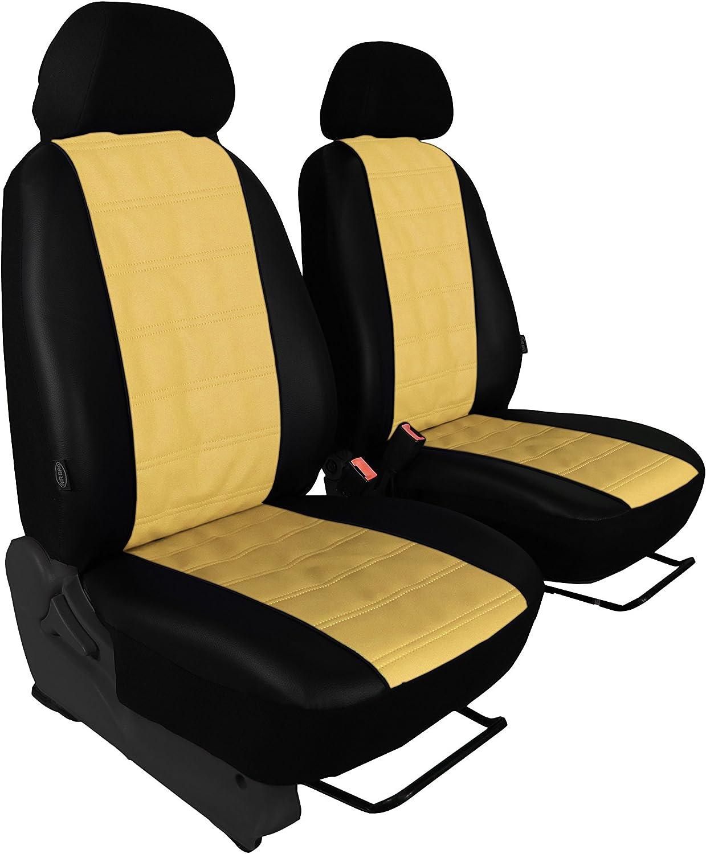 Stoffart Kunstleder Gr/ün - Road W910 ab 2018 Individuell gefertigt Bezug Fahrersitz und Beifahrersitz 1+1 BUS-EJP Passgenaue Sitzbez/üge f/ür Sprinter III W907