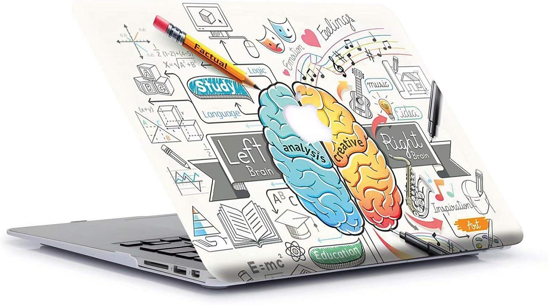 AQYLQ Funda Dura para MacBook Air 13 Pulgadas (A1369 / A1466), Ultra Delgado Carcasa Rígida Protector de Plástico Cubierta, Cerebro Izquierdo y Derecho - Cerebro Creativo