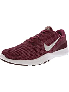 d8c62dc88c10c Nike Women s Flex Trainer 7 Tea Berry Metallic Silver Ankle-High Fabric  Running Shoe
