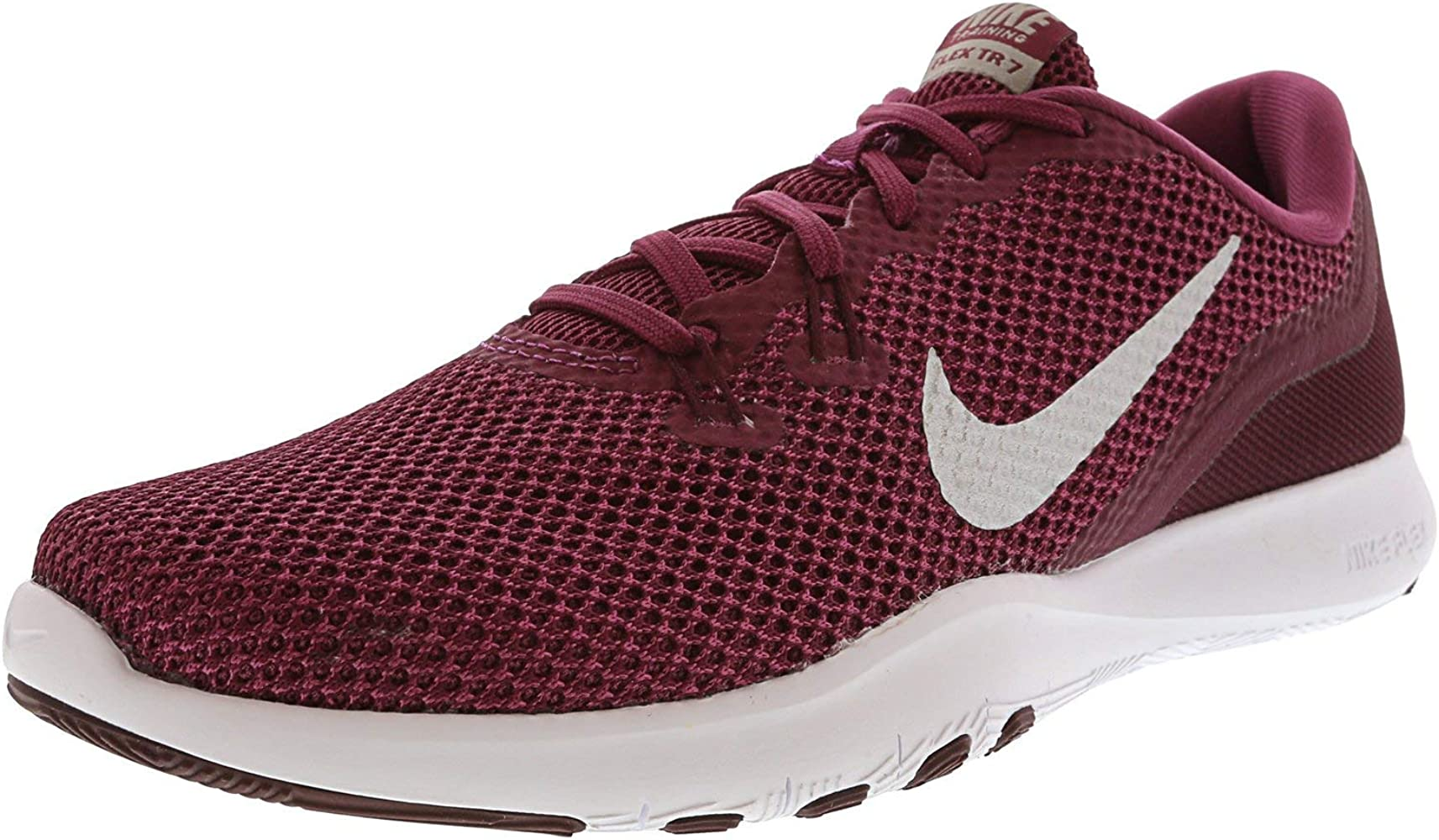 38add6af98389 Women's Flex Trainer 7 Tea Berry/Metallic Silver Ankle-High Fabric Running  Shoe - 8.5M