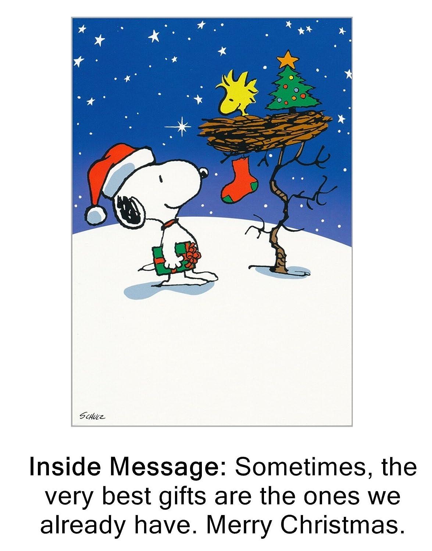 Amazon.com: Box of 20 Christmas Greeting Cards - Peanuts Snoopy ...