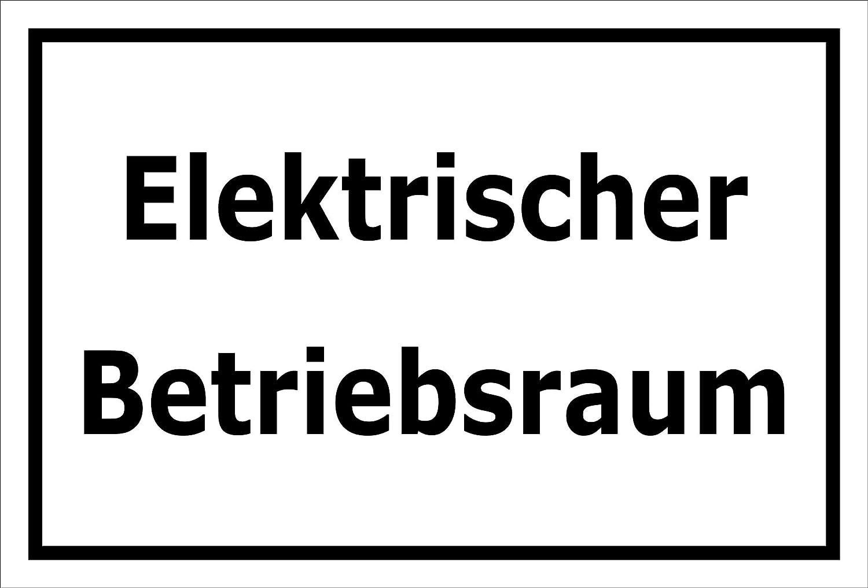 3mm Aluverbund Melis Folienwerkstatt Schild S00070-136-A -20 VAR 15x10cm Elektrischer Betriebsraum Bohrl/öcher