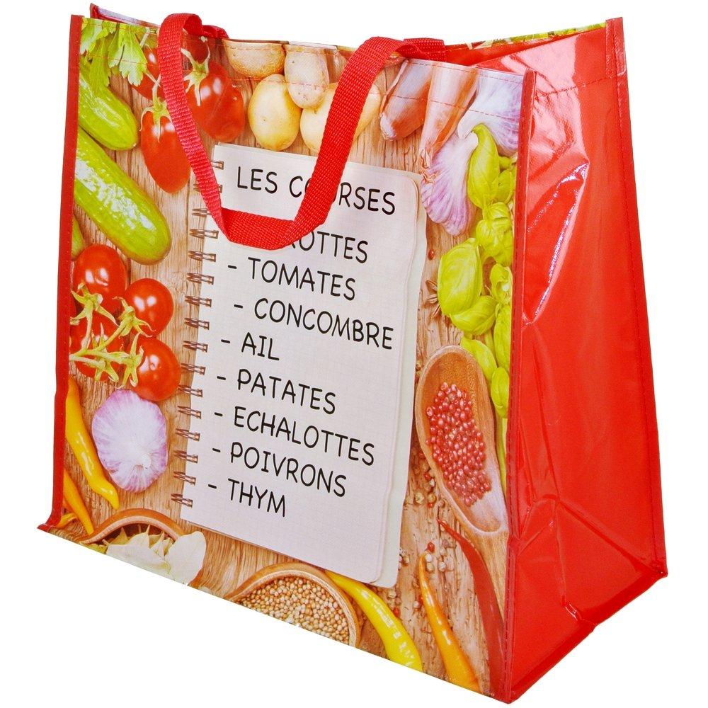 Promobo Sac Cabas Shopping Liste De Courses Magasin Salade Fraicheur Produits Frais saclistcourse