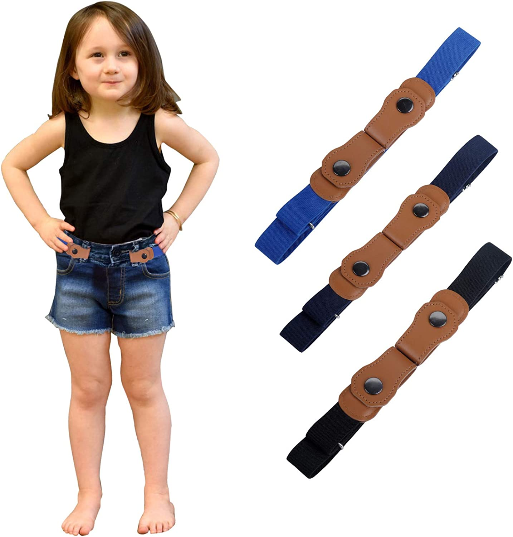 Jungen und M/ädchen f/ür 2-15 Jahre WELROG Keine Schnalle elastische G/ürtel f/ür Kinder verstellbare unsichtbare Stretch-G/ürtel f/ür Baby//Kleinkind