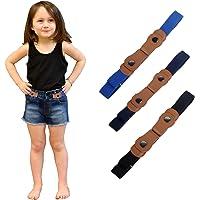 WELROG Cinturones elásticos sin hebilla para niños - Cinturones elásticos invisibles ajustables para bebés/niños…