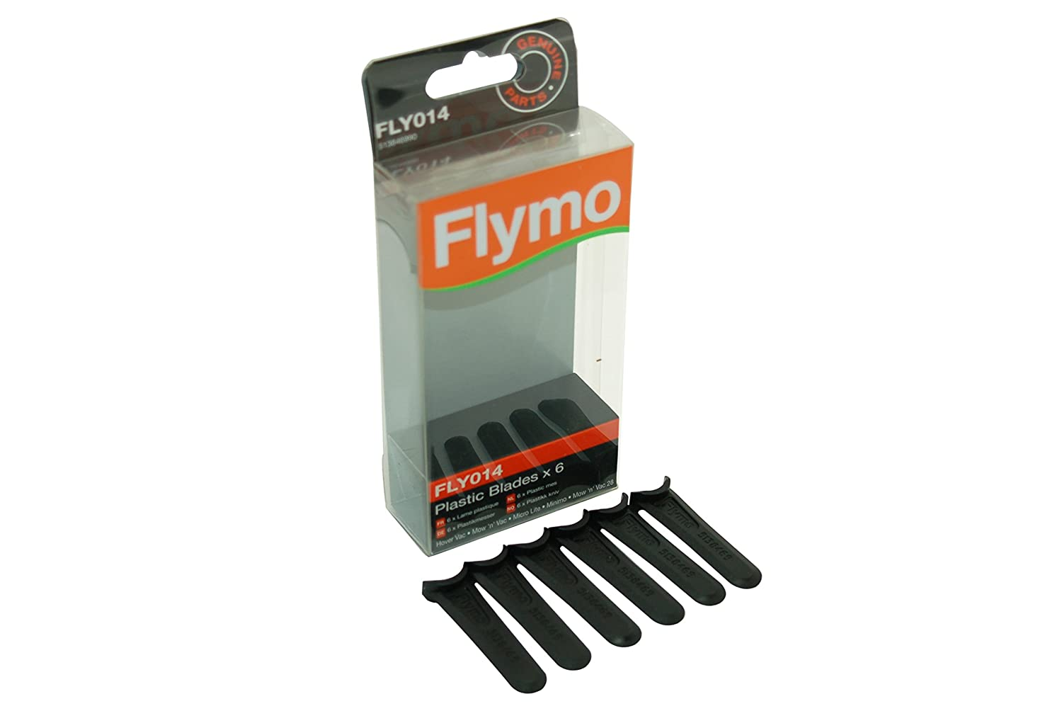 Flymo GENUINE Lawnmower Plastic Blades Fly014 - 6 5138469902 HUS5138469902