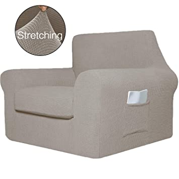 Peachy Simplehome 2 Pieces Chair Covers Furniture Protector Featuring Jacquqard Textured Twill Fabric Sofa Cover Armchair Slipcover For Living Room Chair 1 Pabps2019 Chair Design Images Pabps2019Com