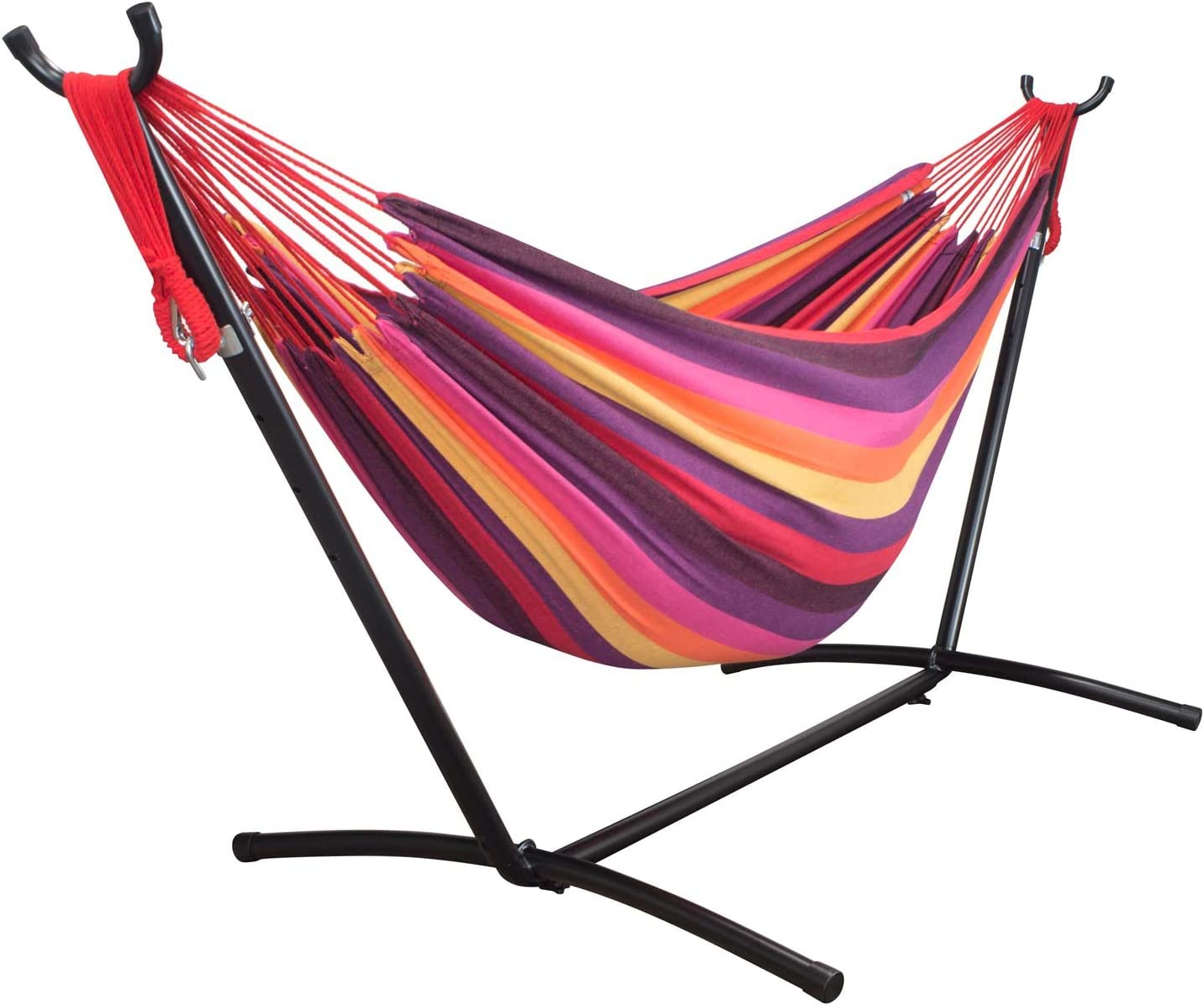 driftsun double hammock with steel stand   space saving two person lawn and patio portable hammock amazon    hammocks stands  u0026 accessories  patio lawn  u0026 garden      rh   amazon