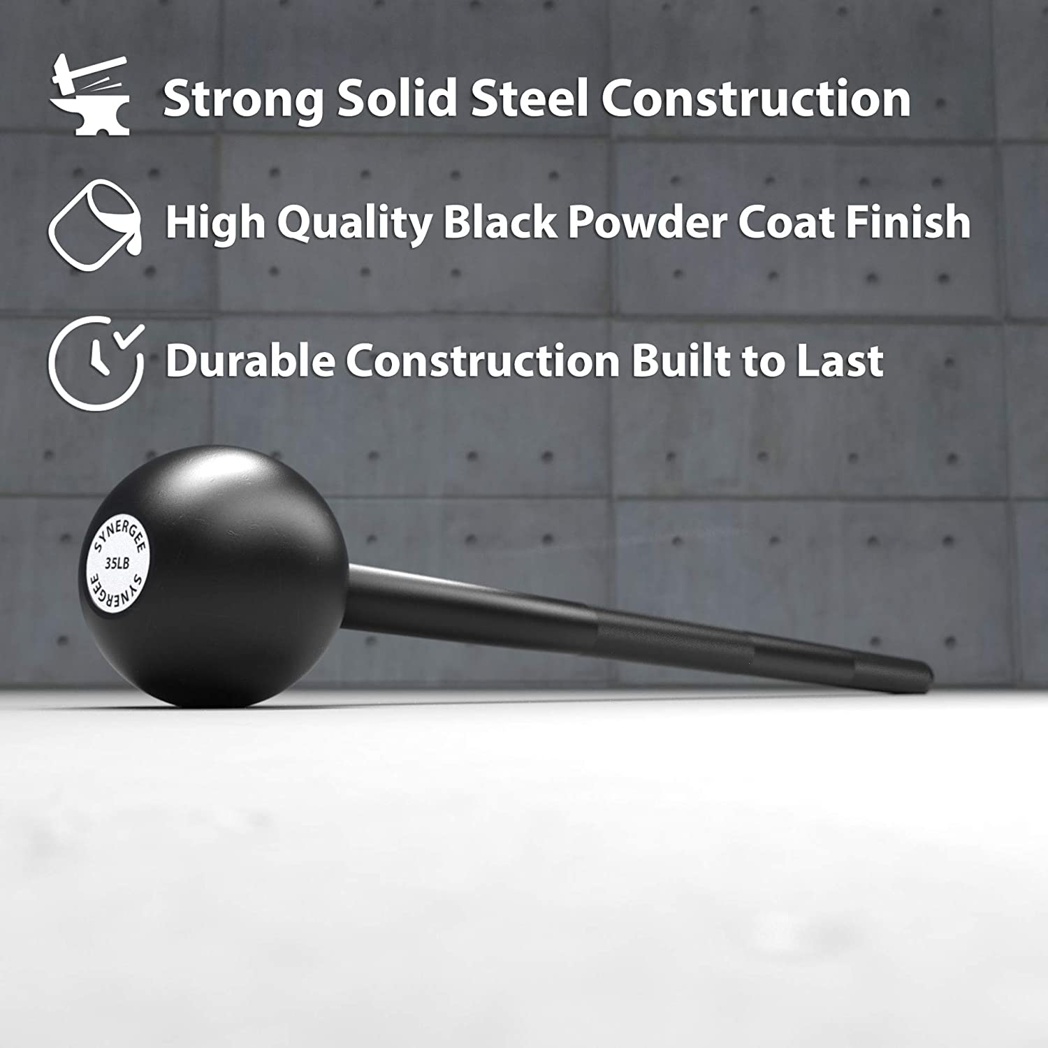 Macebells for Functional Fitness Synergee Steel Mace Available from 5 to 40 lbs Mace Club