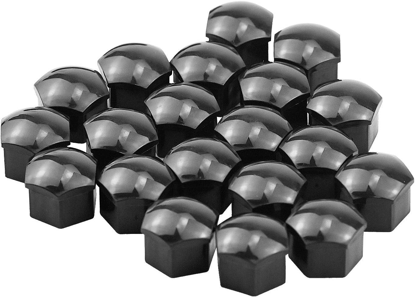 HENTEK 20 PCS Boulon Ecrou Couvre 17 mm pour /écrous de Roue Capuchons Protection Hexagonal avec Outil dinstallation et de Retrait