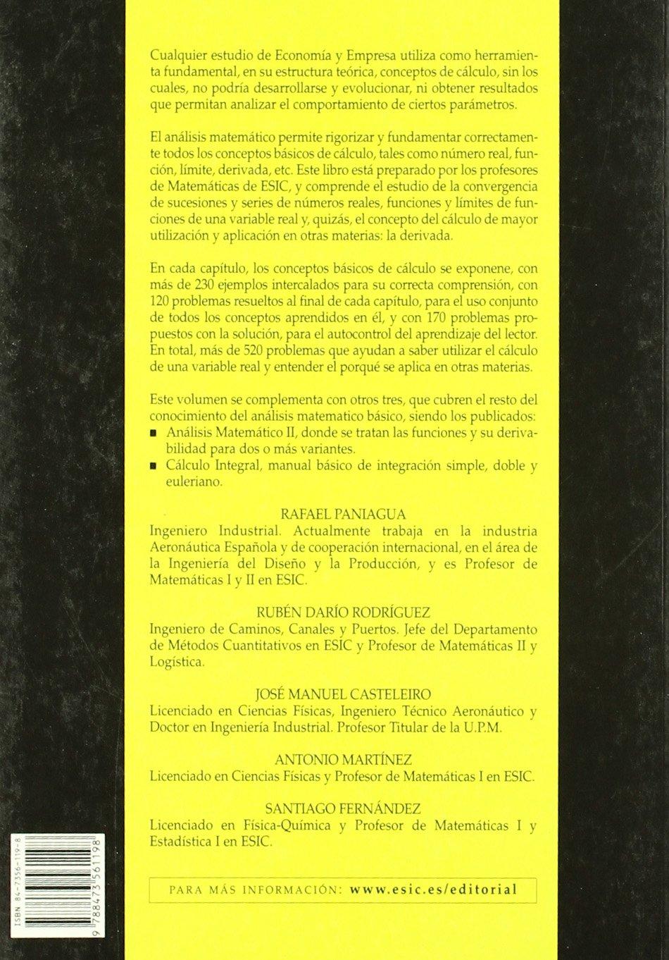 Manual Para La Matemática Universitaria Análisis