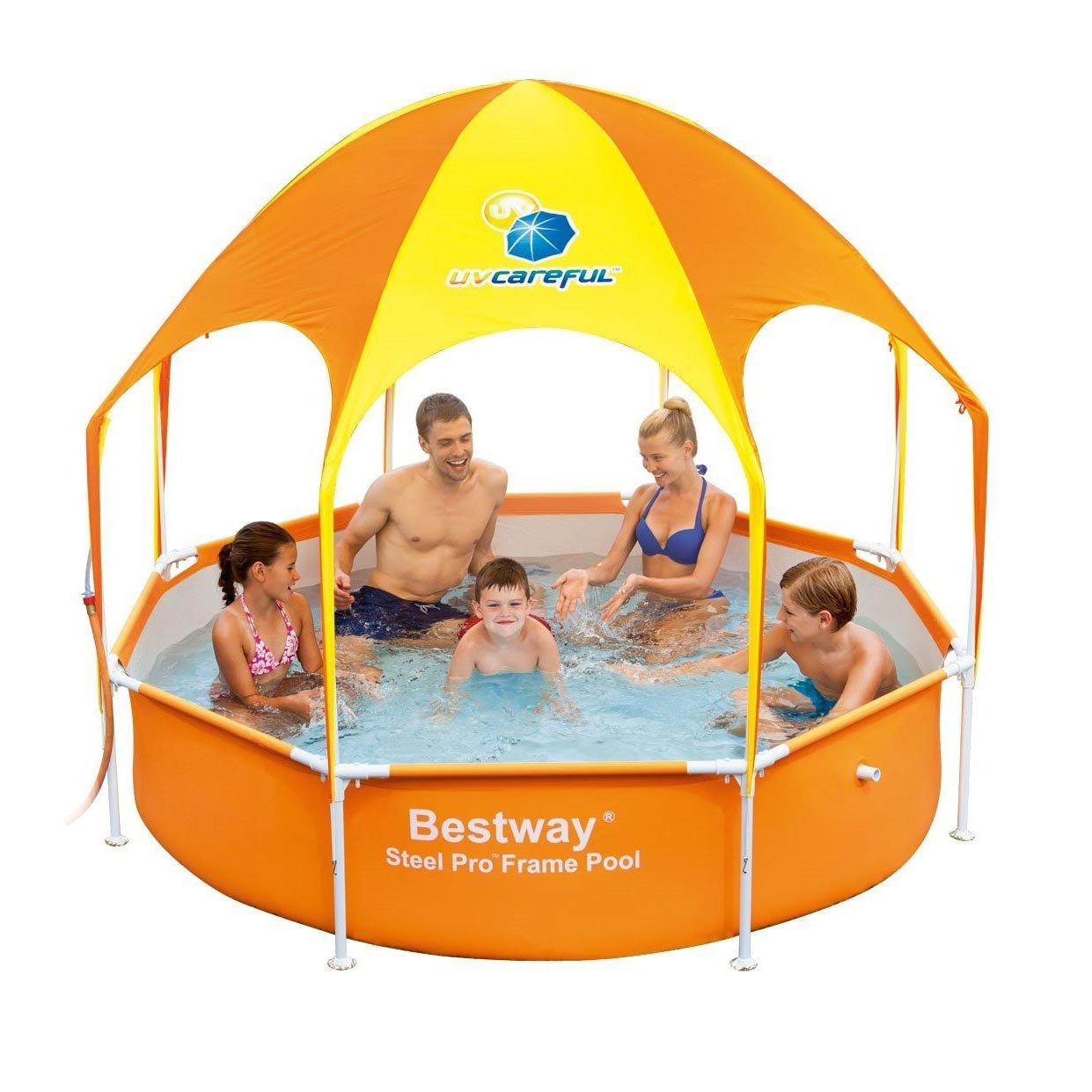 H2OGO! Splash-in-Shade Play Pool Orange by Bestway