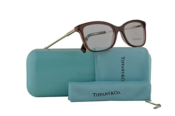 a377bb7d60a Tiffany   Co. TF2169 Eyeglasses 51-17-140 Brown Grey Pink w Demo ...