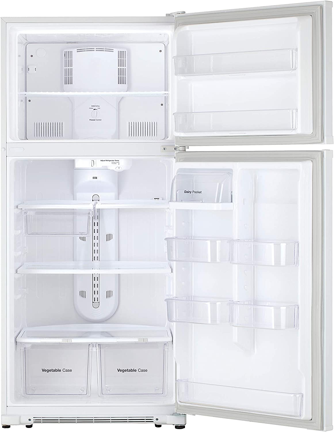 includes delivery and hookup White 21 Cu.Ft Daewoo RTE21GBWCS Top Mount Refrigerator