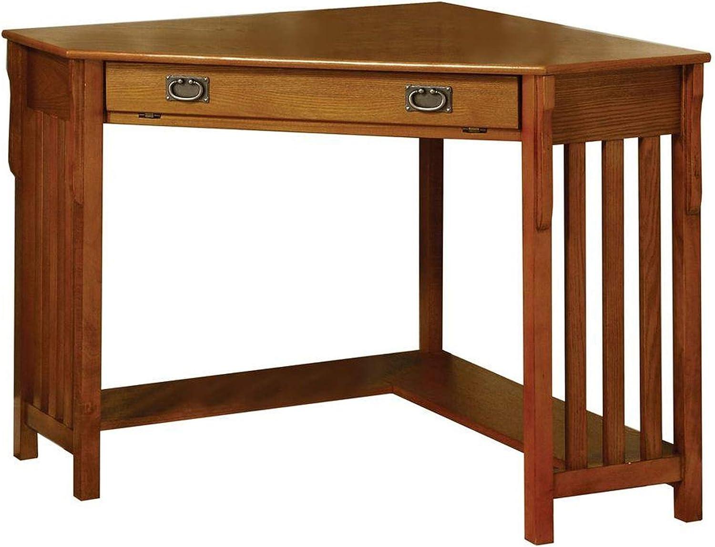 Benjara Benzara Contemporary Corner Desk, Brown,