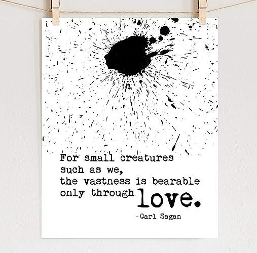 Amazon Carl Sagan Print Love Quote On Fine Art Cotton Paper Adorable Carl Sagan Love
