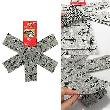 Protectores de sartenes, antiarañazos, olla y sartén separador de almohadillas, separar y proteger