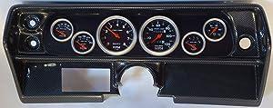 68 Nova Carbon Dash Carrier w/Auto Meter Sport Comp Mechanical Gauges