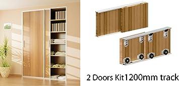 Ares pista sistema de puerta corredera para armario 1200 – 2400 mm para 2 puertas y 3 puertas: Amazon.es: Bricolaje y herramientas
