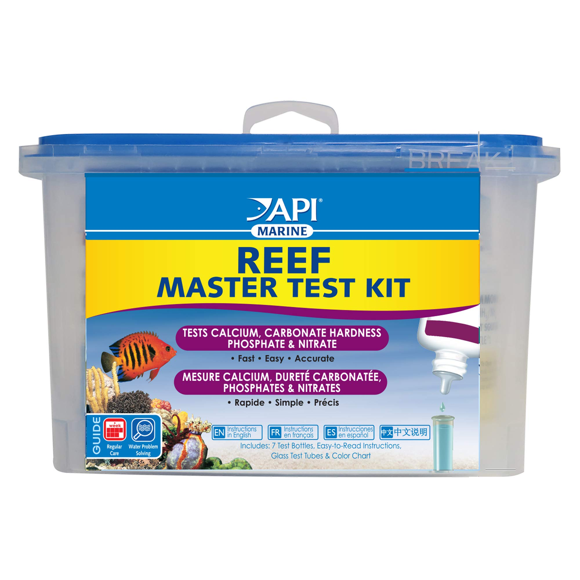 API Reef Master Test Kit Reef Aquarium Water Test Kit 1Count by API