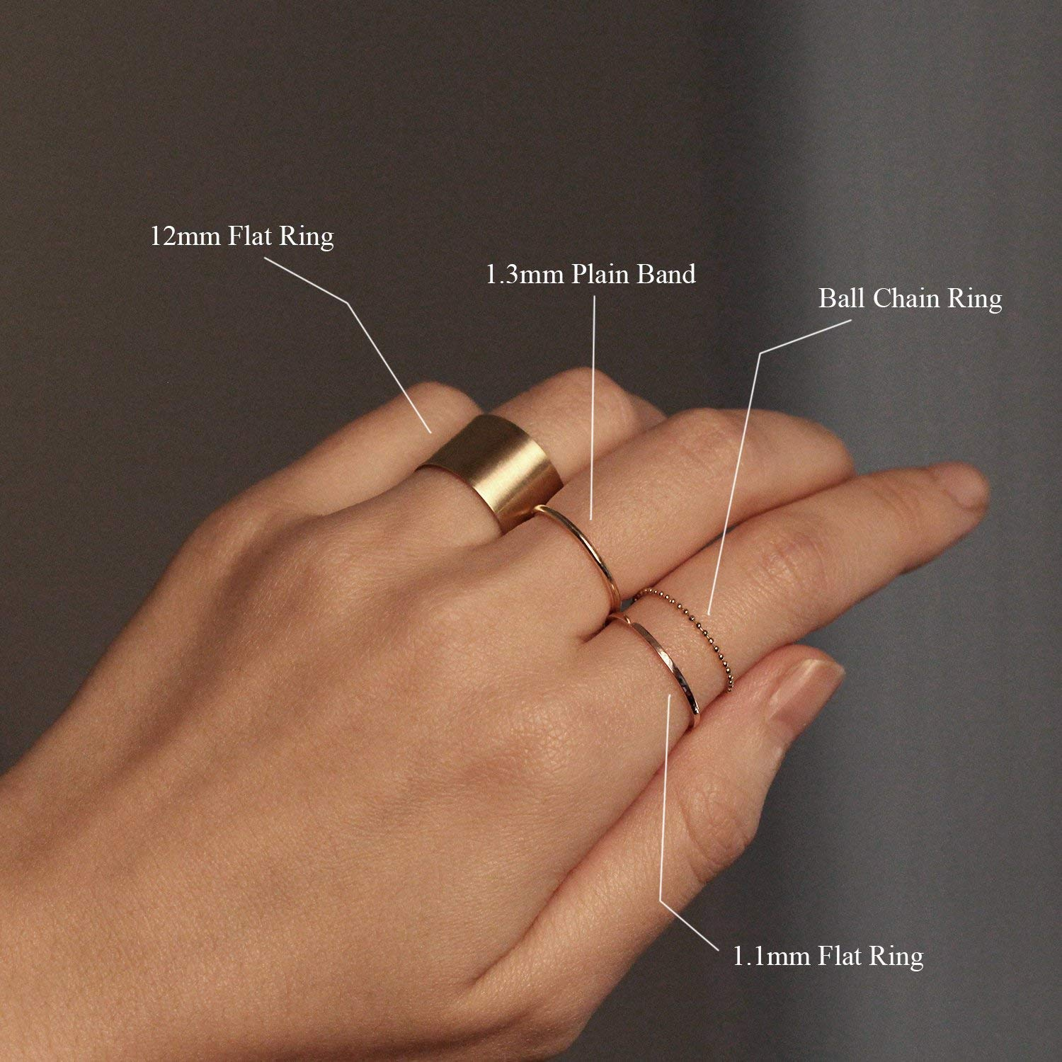 Wide Link Rings Gold Chain Ring FREE SHIPPING Paperclip Link Chain Ring Minimalist Ring Skinny Stacking  Cable Chain Ring Stacking Ring
