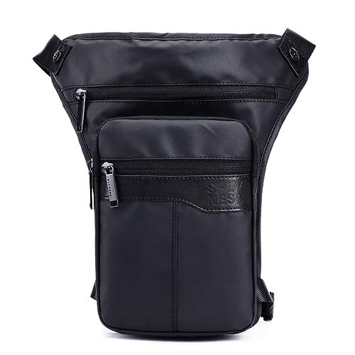 Foino Bolsa de Pierna Hombre Bolso de Cintura Riñonera Deporte Bolsas de Viaje Gimnasio Carteras Bolsos Outdoor Movil Sport Bag Pequeñas