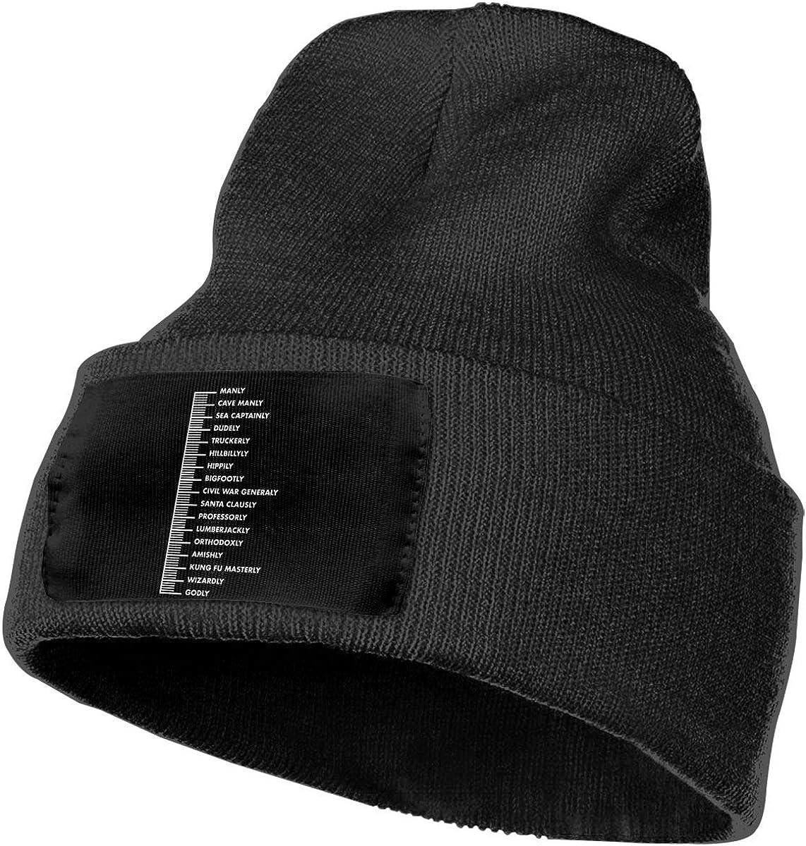 DFKD JKFD Unisex 3D Knitted Hat Skull Hat Beanie Cap Bearded