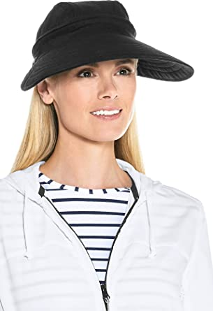c635a9db Coolibar UPF 50+ Women's Bel Aire Zip-Off Sun Visor - Sun Protective (One  Size- Black) at Amazon Women's Clothing store: