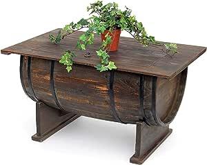 DanDiBo mesa de salón vintage halbiertes Barril de vino 5084 de H ...