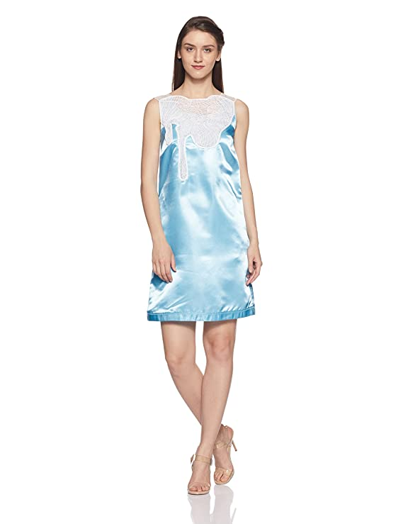 bYSI Women's Synthetic A-Line Dress Dresses at amazon