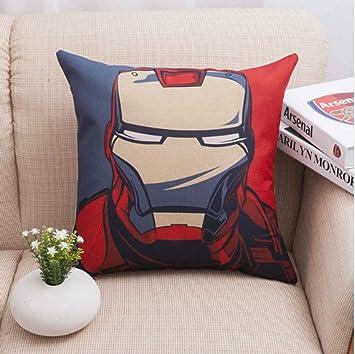 Penveat Coussins De Super Heros Iron Man Canape Taie D Oreiller