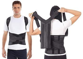 Corrector Postura y Soporte de la postura- Soporte para la columna vertebral para aliviar el dolor de espalda Negro X-Small: Amazon.es: Salud y cuidado ...