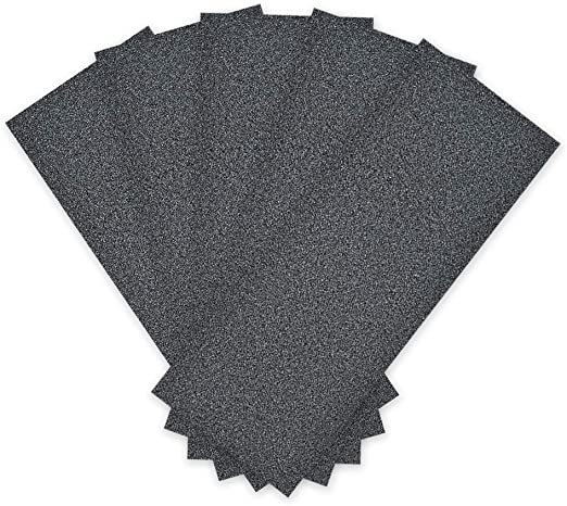 uxcell Wet Dry Silicone Carbide Abrasive Sandpaper Paper Sheets 180 Grit 5PCS