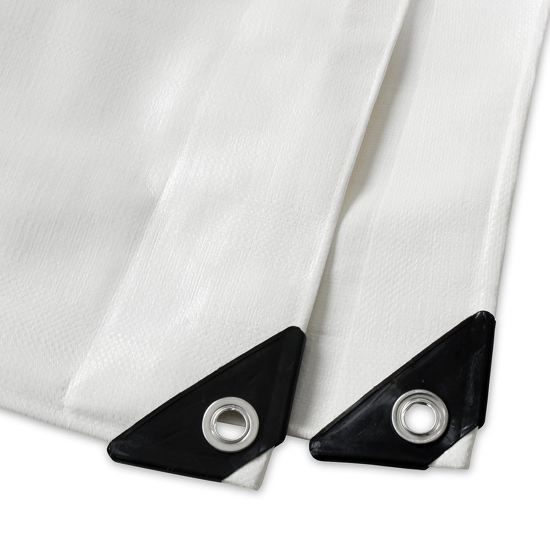 Silver 100/% Waterproof and UV Protected 3x5m High Density Tarpaulin casa pura Heavy Duty Tarpaulin Woven Polyethylene and Double Laminated 240g//m/²