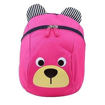 Zerodis Mochila para niños pequeños Mochila para niños Anti-Perdidos Mochilas Escolares de jardín de Infantes Cute Bear(Rosa): Amazon.es: Hogar