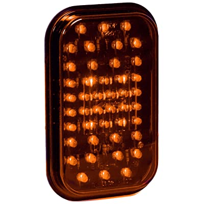 "Maxxima M42201Y 44 LED Amber 5"" Rectangular Park/Front & Turn Light: Automotive"