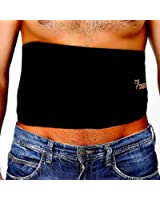VIKTOR JURGEN Waist Trimmer Ab Belt - Waist Trainer Belt to Weight Loss Exercise Wraps with FREE Smartphone Sleeve for iPhone Plus
