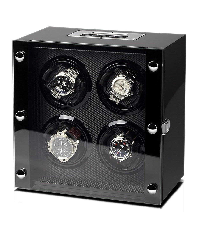 WATCH WINDER Lade Uhren schwarz Uhrenbox 4 Automatikuhren