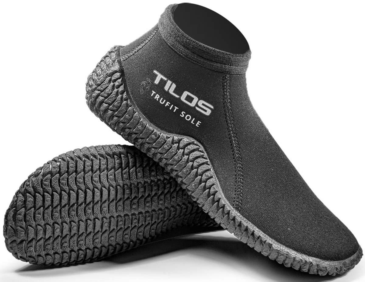 Tilos TruFit Diveブーツ、最初Truly人間工学Scubaブーティ、で使用可能3 mmショート、3 mmチタン、5 mmチタン、5 mm THERMOWALL、7 mmチタン B07BB66S57  Men 10 / Women 11 Men 10 / Women 11|3mmショートビーチブーツ