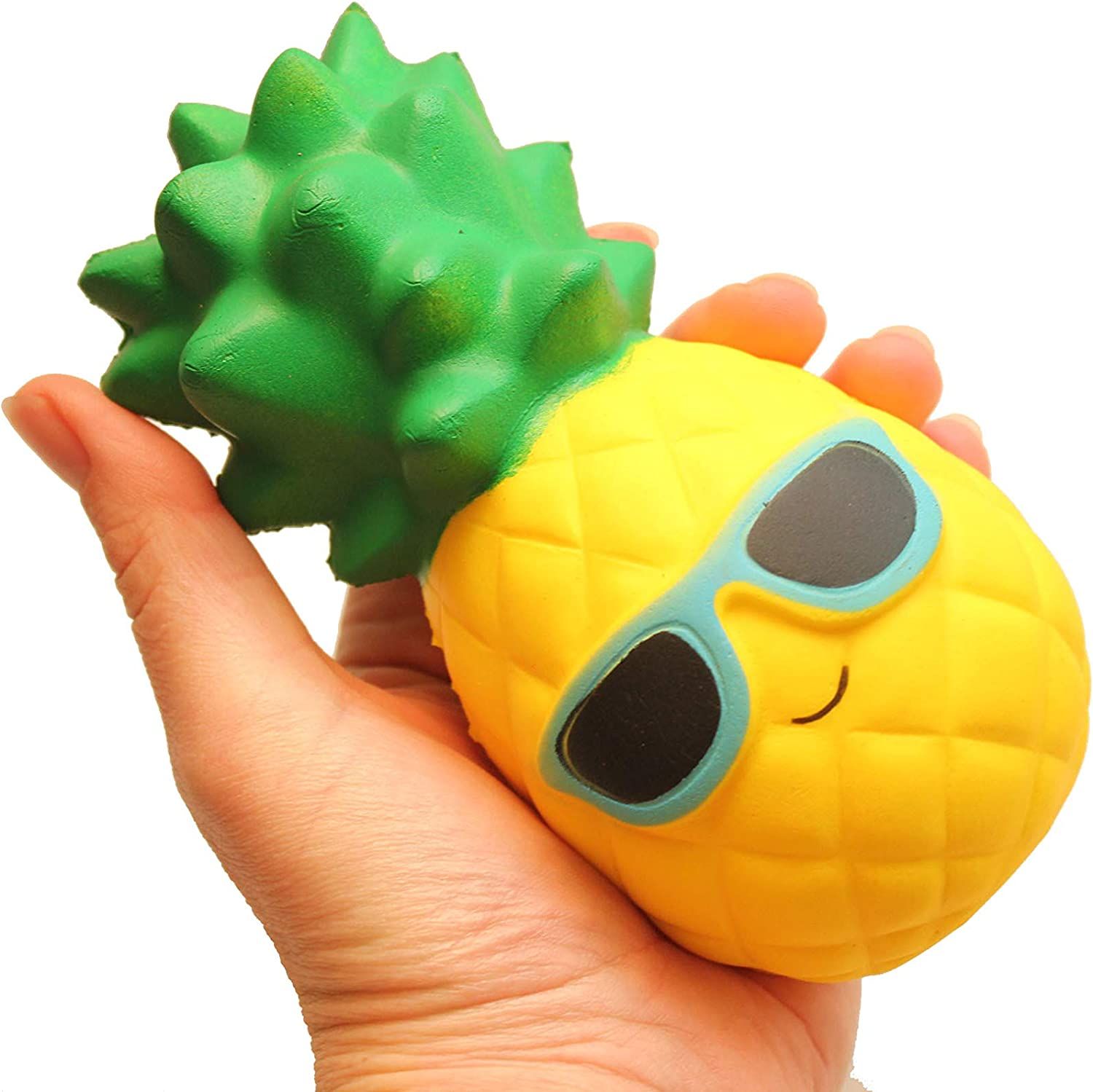 Large Pineapple Squishy Slow Rise Fruit Food Face - Sensory, Stress, Fidget Toy