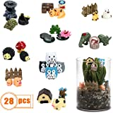 Fireboomoon 28 PCS Miniature Garden Ornaments,Mini Resin Fairy Garden Animals for Dollhouse Decoration,Birthday Party,Kids Pr