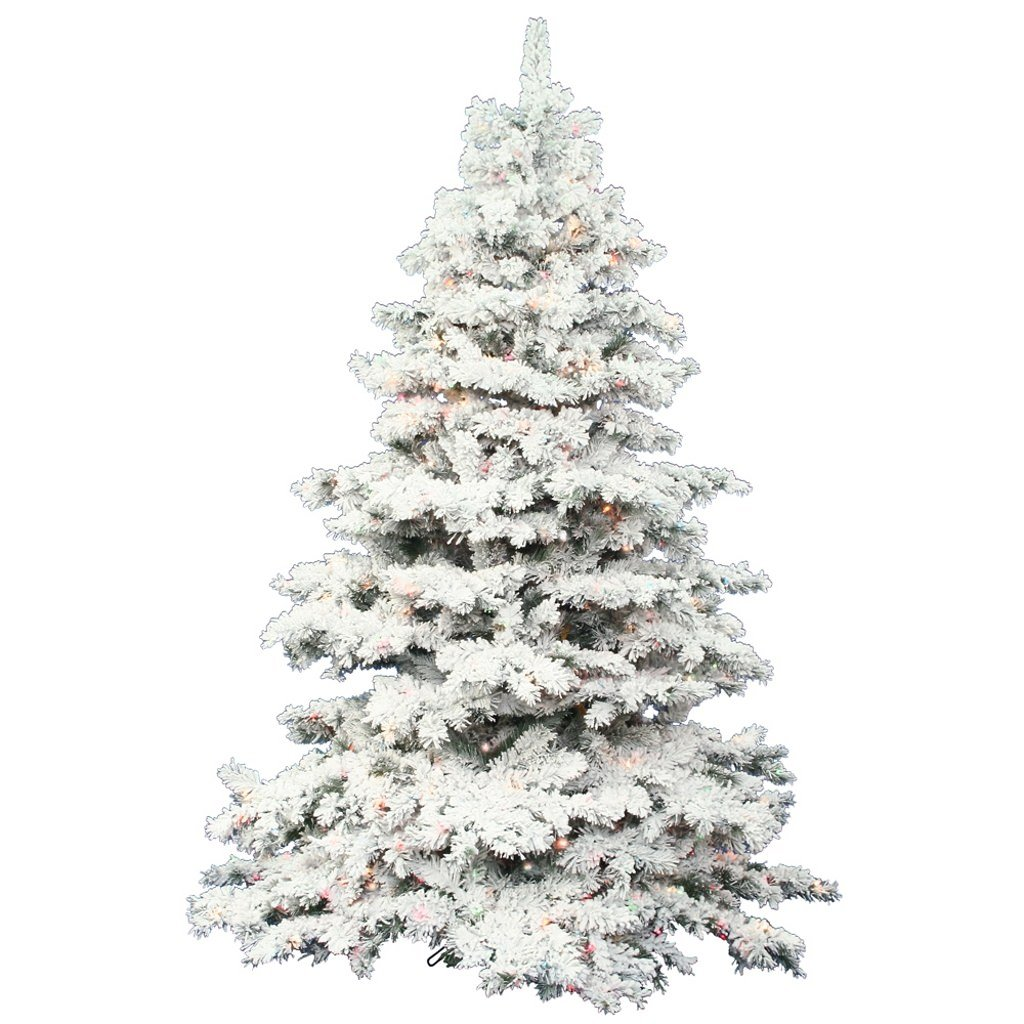 Amazon.com: Vickerman 7.5-Feet Flocked Alaskan Pine Artificial ...