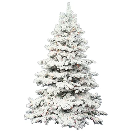 Vickerman 7.5-Feet Flocked Alaskan Pine Artificial Christmas Tree with 900  Clear Lights - Amazon.com: Vickerman 7.5-Feet Flocked Alaskan Pine Artificial