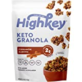HighKey Snacks Keto Food Low Carb Granola - Cereal Snack - Paleo Friendly - Ketogenic Breakfast Nut Foods - Low Sugar, Grain & Gluten Free Healthy Travel Dessert - Cinnamon Almond